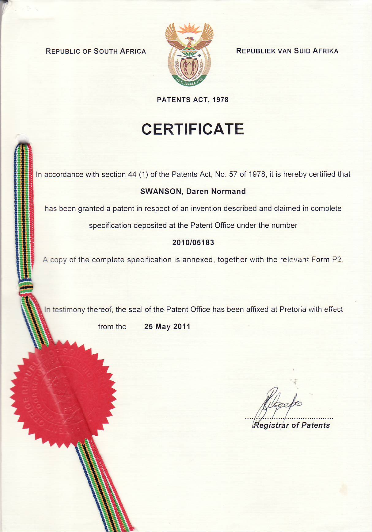 South African Patent